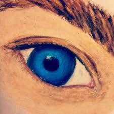 oil pastel eye painting blueeyes eyes drawing oilpastel
