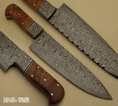 BEAUTIFUL HAND MADE DAMASCUS STEEL HUNTING  KITCHEN  CHEF KNIFE Damascus Steel Kitchen Knives