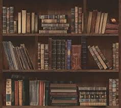 library book shelves. Brilliant Book Library Book Bookshelves Antique Bookcase Selfadhesive Peelstick  Wallpaper VBS140132 On Shelves L