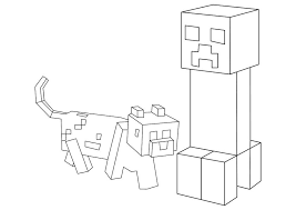 Today we have some awesome minecraft coloring pages for you!!! Creeper And Dog In Minecraft Coloring Page Free Printable Coloring Pages For Kids