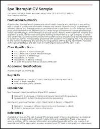 Massage Therapist Resume Sample Create My Resume Sports Massage