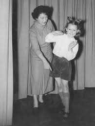 Peggy Griffith and Maria Catherall prepare for the Pantomime