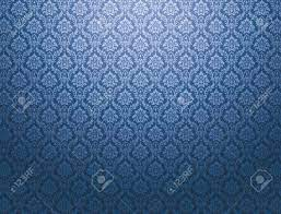 Blue Damask Wallpaper With Royal Floral ...