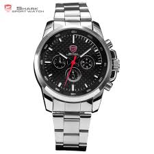 aliexpress com buy luxury shark sport watch men military 6 hands aliexpress com buy luxury shark sport watch men military 6 hands stainless steel carbon fiber dial date outdoor relogios wrist quartz hours sh020 from
