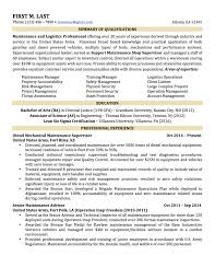 Sample Resume For A Military To Civilian Transition Best Resume