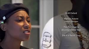 BLM Representative Sasha Johnson being Racist to a Black Man - YouTube