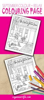 september coloring page is here get your color on with this fun coloring page