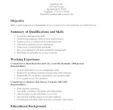 waitressing cv bar waitress cv sample resume spacesheep co