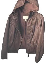 hinge brown leather jacket image 0