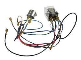 wk vw complete wiring kit beetle  vw flasher relay conversion kit 12 volt 9 prong beetle 1967 1968