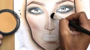 how to make a makeup face chart face drawing new