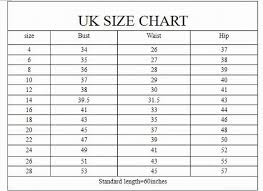 Uk Sizing Chart Always Pre Check You Sizes Before Ordering A