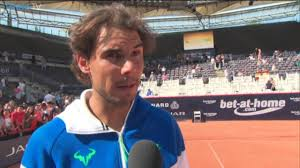 Nadal Discusses 2015 Hamburg Final Win Over Fognini - YouTube
