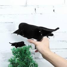 garden patio crow decoy realistic crow
