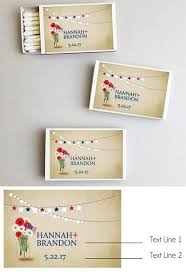 personalized patriotic daisy flowers white matchbo set of 50