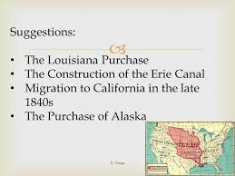 thematic essay practice the impact of geography ppt the louisiana purchase the construction of the erie canal