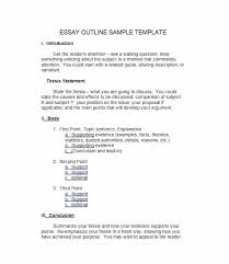 Comparison Essay Template 37 Outstanding Essay Outline Templates Argumentative