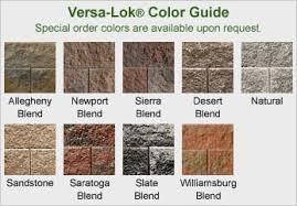 Versa Lok Block Color Chart Versa Lok Standard Colors Bahangit Co