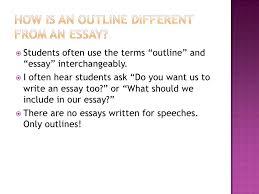 writing an outline vs an essay