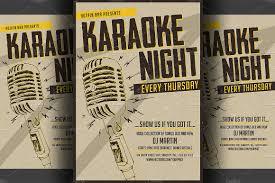Karaoke Night Flyer Template Karaoke Night FlyerPoster Template Flyer Templates Creative Market 3