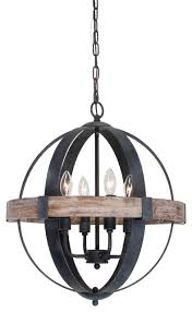 castello 4 light chandelier black