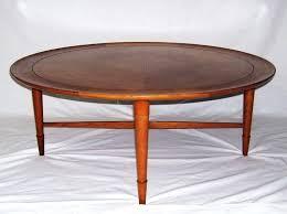 heritage henredon coffee table heritage leather top mahogany