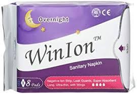 Winalite Qiray Anion Sanitary Napkin (Day, Overnight ... - Amazon.com