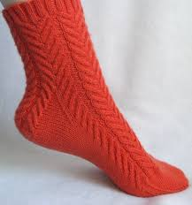 Sock Patterns New Coral Cables Knitted Sock Pattern The Jewell's Handmades