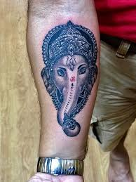 Ganesh Tattoo With Detail Work Ganesh Tattoo Is Recognizable