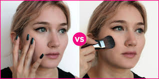 apply foundation with a brush instead