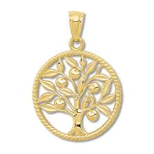 family tree charm 14k yellow gold tap to expand