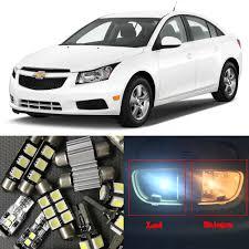 8 White Auto LED Light Bulbs For 2010 2011 2012 2013 2014 2015 ...