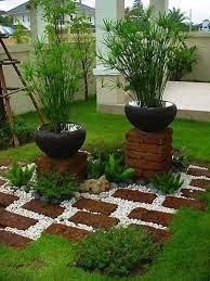 diy garden ideas of rocks and pots