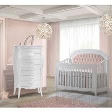 Nursery with white furniture White Gloss Natart Allegra Piece Nursery Set In White With Blush Diamond Panel Crib And Lingerie Treasure Rooms White Nursery Sets Baby Furniture Sets Treasureroomscom