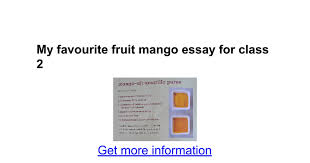 my favourite fruit mango essay for class google docs