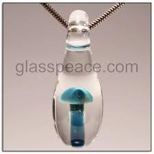 glass mushroom bead lampwork pendant