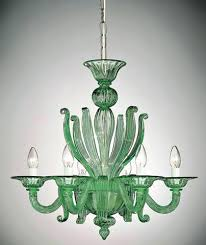 green glass chandelier style ceiling 6 light sea green glass chandelier