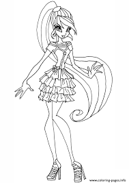 Small Picture Stella Gardenia Winx Club Coloring Pages Printable