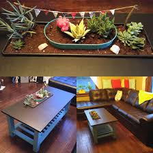Planter coffee table Concrete My Modern Met Diy Coffee Table Has Colorful Planter Cleverly Built Into Its Surface