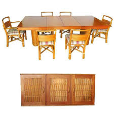 maple dining room set rare red mid century rattan and gany dining set with of maple