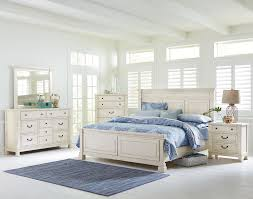 white king bedroom sets. Standard Furniture Chesapeake Bay Vintage White Queen Panel Bed | Wayside Beds King Bedroom Sets B