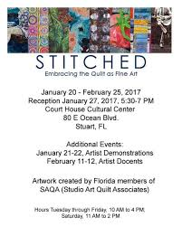 STITCHED - Art Quilt Show, Stuart, FL - SHARON BUCK ART & Hope you get a chance to see this show... it should be good. I am honored  to have had a quilt accepted to it, Tribute to Selene, which is included in  the ... Adamdwight.com