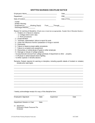 Employee Write Up Form Form Samples Employee Write Up Template Pdf Restaurant Free
