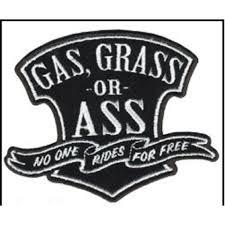 hot leathers gas grass or ass motorcycle biker patch