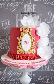 70th Birthday Cake Cake By Wooden Heart Cakes Cakesdecor