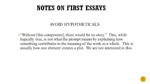 feedback on essays  plot should only be used as context for  3 avoid hypotheticals