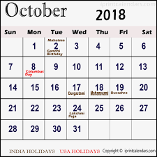 Moon Chart October 2018 October Calendar 2018 Moon Phases