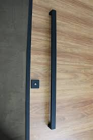matte black entry pull set 1 2m long