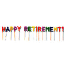 retirement banner clipart happy retirement pick candle set 53283 5 36 harvest well