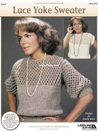 Leisure Arts 801390-Lace Yoke Sweater-Darla Sims-Knitting and Crochet  Communication (Cant post new thread only reply)-Knitting Patterns-PinDIY